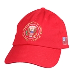 Seal of the President Embroidered Red Hat, POTUS