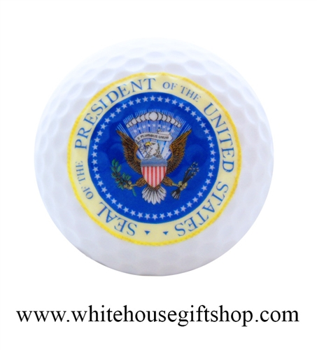 Presidential Golf Ball, Presidential Seal, President Of The United States, Gift Boxed