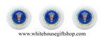 Presidential Golf Balls, Sleeve of Three, With Clear Plastic Sleeve Display Box, Presidential Seal, Washington D.C., White House Gift Shop Official Gold Seal on Outer Sleeve