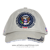 Seal of the President khaki cotton Cap,American Flag,  Hat from White House Gift Shop