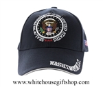 Black with White Trim Seal of the President Hat