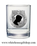 Glass, USA, POW MIA, 14-oz Glass, Pewter & Enamel Medallion, Made in the USA!