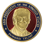 President Donald J. Trump Inaugural Dated Medallion Coin, January 20, 2017, from the Original Official White House Gift Shop
