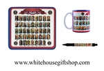 Presidents of the United States Photos & Dates Mouse Pad, Mug, & Pen Set, Colorful, Educational, Portraits and Administration Dates