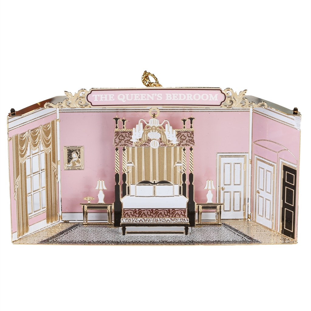 White house christmas ornaments historical society - White House Queen S Bedroom Is From The Official White House Gift Shop Collection