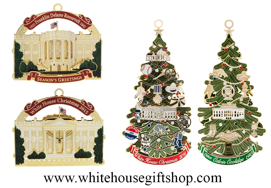 2015 White House Ornanents · Larger Photo Email A Friend - 2015 White House Ornaments: Roosevelt & Coolidge From The Official
