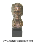 "Bust, Ronald Reagan, 40th President of the United States,17.5"" Bronze Patina, Cast Stone,Republican, FREE shipping kn 48 states, USA"
