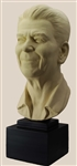 "Bust, Ronald Reagan, 40th President of the United States,17.5"" White Cast Stone"
