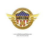 Scientists, Heroes of COVID-19, Gold Pin for Lanyard, Uniform, or Lapel. Designed by artist Anthony Giannini for the original Secret Service White House Gift Shop.