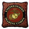 Semper Fidelis United States Marine Corp, USMC, Pillow, Semper Fi, Made in America, 17 x 17 inches, red, black, gold, Made in the USA, Military Veteran Gift