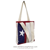 White House Patriotic Flag Large CarryBag, Made in USA, Pocket, Machine Wash Dry