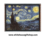 "Van Gogh ""Starry Night"" Throw, Blanket, See Matching Pillow, SALE"
