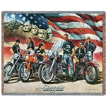 STURGIS 2018 RIDE BLANKET THROW, MADE IN AMERICA, COTTON