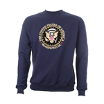 Washington D.C. Presidential Seal Crew Neck Sweatshirt - Blue