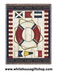 Nautical Flags Throw, Blanket, 100% Cotton, Machine Wash and Dry