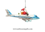 Santa Aboard Air Force One White House Ornaments