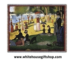 "Seurat ""Sunday Afternoon"" Throw, Blanket, 100 % Cotton, Machine Wash and Dry"