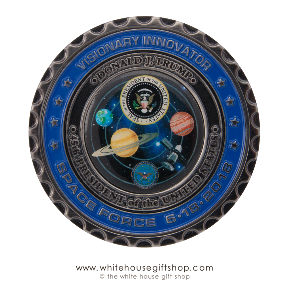 collector's limited edition coin, Space Force coins, authentic officiial ...