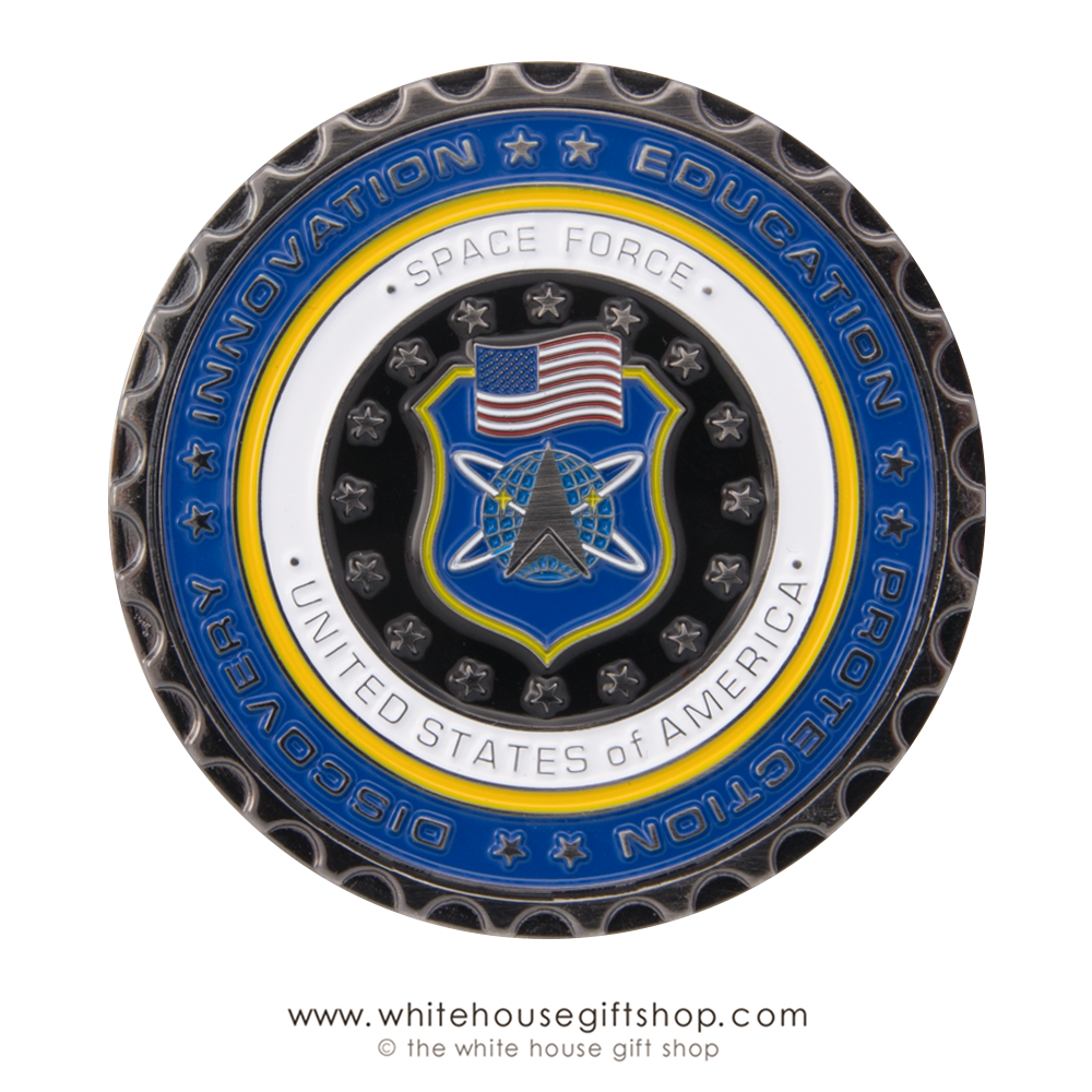 collector's limited edition coin, Space Force coins, authentic ...