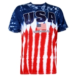 American Flag Tie-Dye T-shirt, Close Out Sale, Pre-Shrunk Cotton