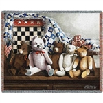 Teddy Bears Throw Blanket, SALE
