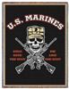 US Marines,  Military Throw, Blanket, Made in USA Quality Cotton, Machine Wash and Dry,