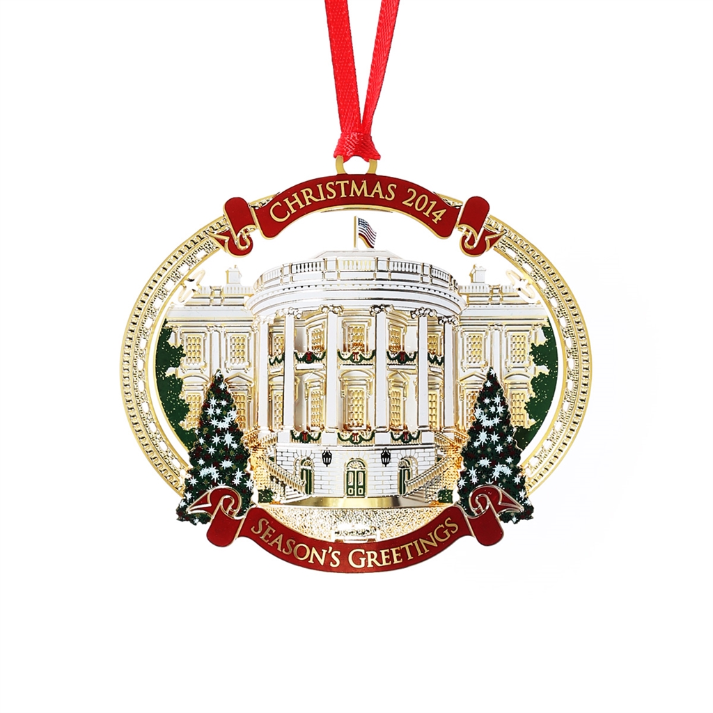 2014 White House Christmas Ornament, Giannini Design, Complete 24KT ...