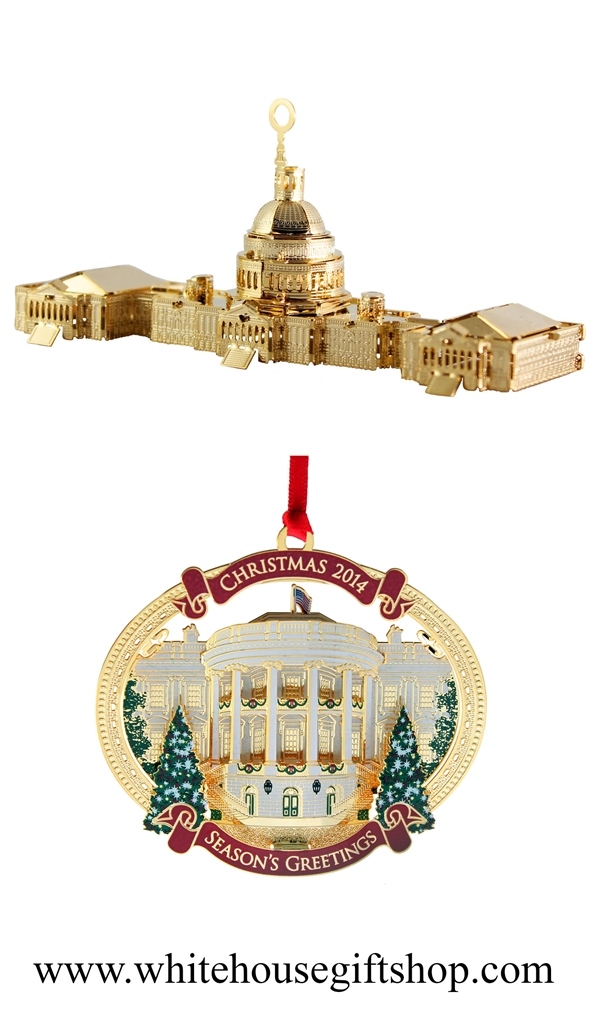 2015 Washington D.C. Architecture Annual Ornament PLUS the 2014 White House  Christmas & Holiday Ornament, TRUMAN'S BALCONY, Quote on Reverse, ... - 2015 Washington D.C. Architecture Annual Ornament PLUS The 2014