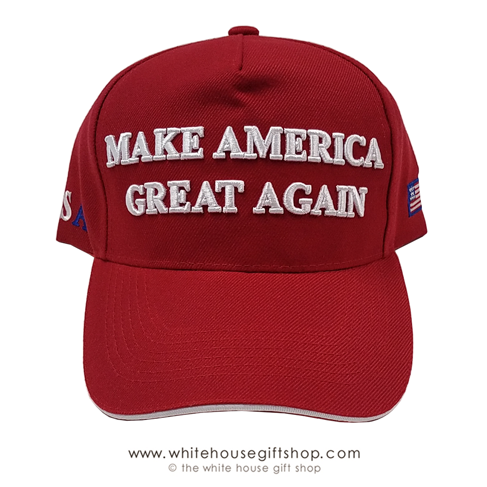 MAGA Make America Great Again President Donald Trump Hat Cap Embroidered Red USA
