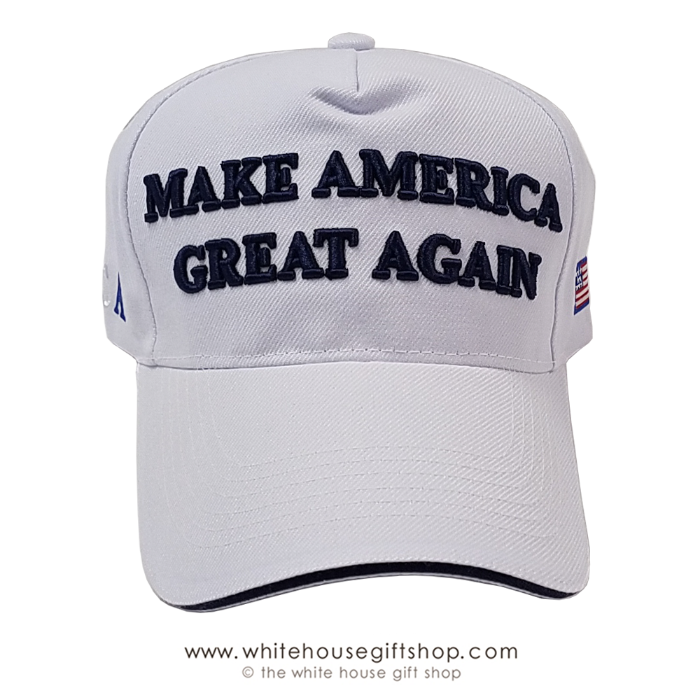 83e7edac2 Make America Great Again Hat, White, Acrylic, MAGA cap collection, Imported