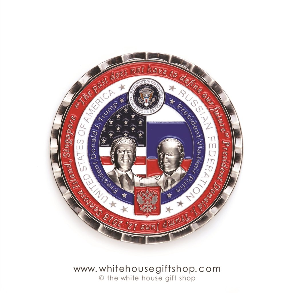 Coin, TRUMP AND PUTIN, Limited Edition, 5000 Coins, Helsinki Summit,  Numbered, Certificate, Custom White House Coin Case, Historic Moments  Collection