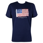 American Flag T-shirt - Navy Blue