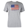American Flag T-Shirt - Light Gray