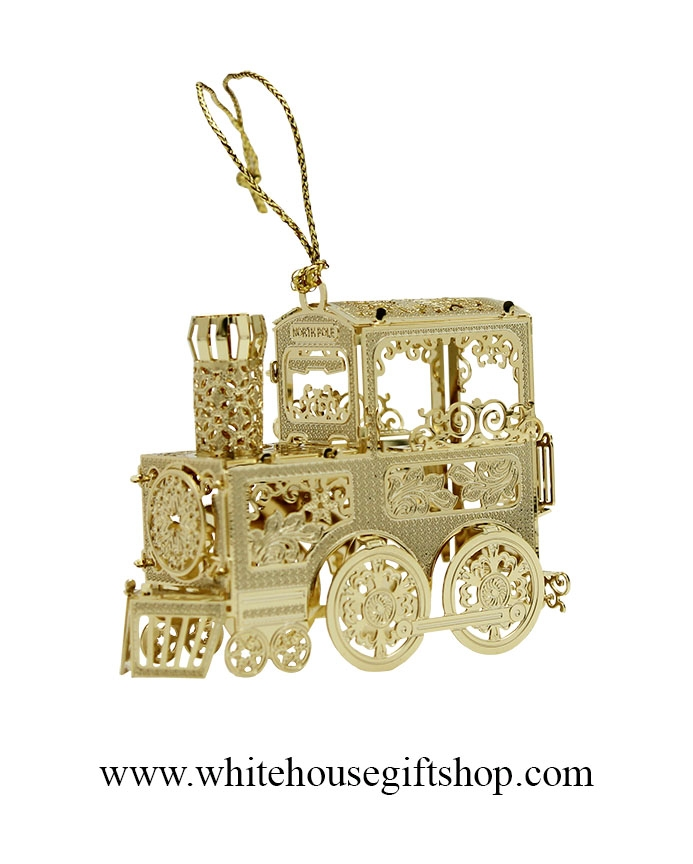 the white house express train christmas ornament completely 24kt