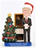 President Donald J. Trump, White House Christmas Bobble, Doll, Nodder, Features Donald Trump Addressing the Nation in the State Dining Room with Two Christmas Trees, President Lincoln Portrait, Fireplace and Mantle, Designed by Anthony Giannini