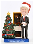 President Donald J. Trump, White House Christmas Bobble, Doll, Nodder, Features Donald Trump Addressing the Nation in the Blue Room with Two Christmas Trees, Designed by Anthony Giannini