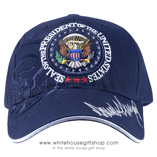President Donald J. Trump Inauguration Day Hat, Navy Blue, January 20, 2017, Embroidered in USA. From the Official White House Gift Shop Inauguration Store Presidential Gifts Hats and Accessories Collection