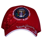 President Donald J. Trump Inauguration Day Hat, Red, January 20, 2017, Embroidered, Red, From the Official White House Gift Shop Inauguration Store Presidential Gifts Hats and Accessories Collection