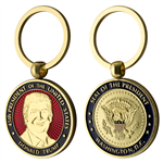 president trump inauguration coin and medallion keyring, keychain, gold