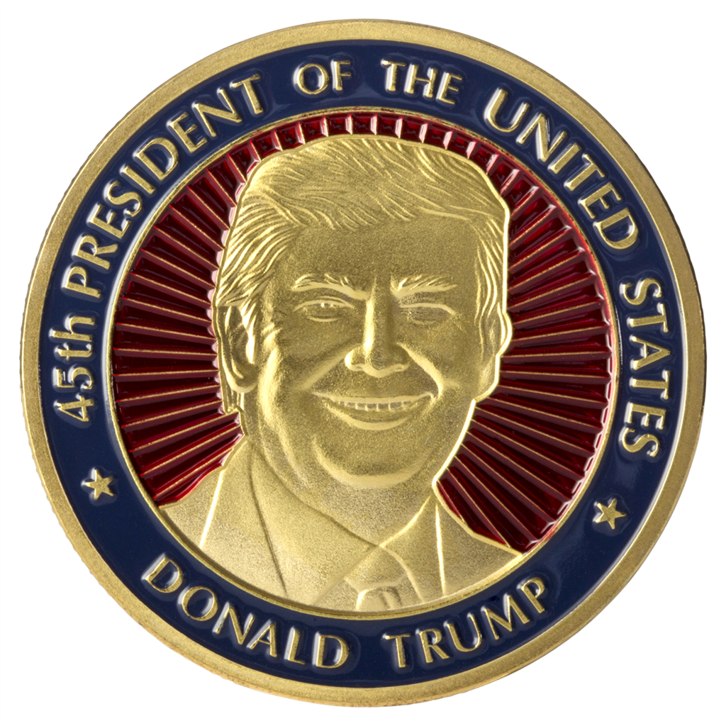 President Donald Trump 45th President Coin In Small Coin