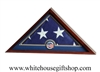 US Flag Display Case with US Flag Medallion