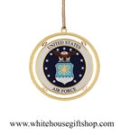United States Air Force Official Ornament, Start or Complete the Entire Collection!