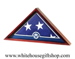 US Flag Display Case with Aim High Air Force Medallion
