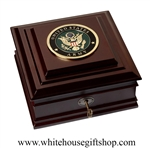 United States Army Seal Keepsake Box, Department of the Army Case, Made in USA of America, Military Dogtags, Awards, Ribbons, Challenge Coin Gift Safe