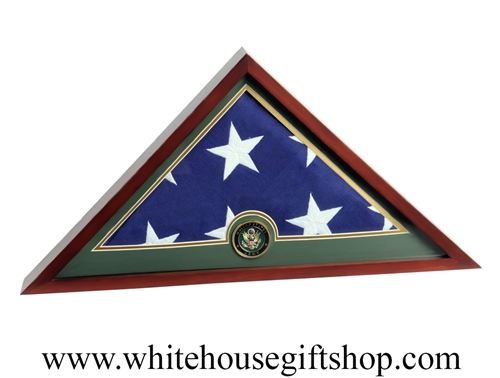 US Flag Display Case with Army Medallion