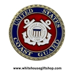 "USCG challenge coins, US Coast Guard challenge coin, engravable, bronze and enamel, 1.5"" diameter, United States Coast Guard"