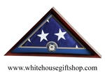 US Flag Display Case with Coast Guard Medallion