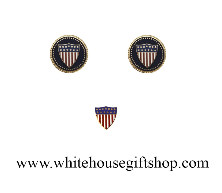 American flag cufflinks union crest 13 stars includes matching american flag cufflinks union crest 13 stars includes matching lapel pin 24kt gold plated sculpted fifty stars encircling cobalt setting publicscrutiny Image collections