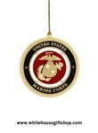 Ornaments,United States Marine Corps Holidays & Christmas Ornament, Authorized USMC, 24KT Gold Finished, Made in the USA, Nearly Sold Out, See Also the New 2014 USMC Ornament