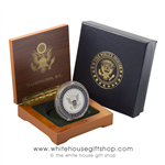 Military Coins, Navy, USN, Presented in Wood Coin Case & 2-Piece White House Outer Gift Box
